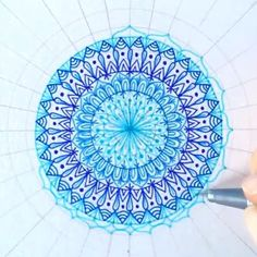 Quick Blue Mandala _ I've used Staedtler Triplus Fineliners ⭐️ _ Remember to turn ON post notifications if you want to see all of my future posts! . . . _ Song: Oblivion - Indians