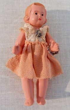 Original Schildkröt Puppe Mädchen Zelluloid Puppenstube alt um 1940 | eBay