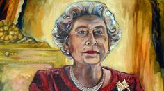 Impressionistic portrait of the Queen