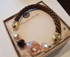 Braided Kumihimo Bracelet & Swarovski $ 16.00