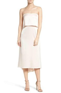 Halston Heritage Strapless Dress