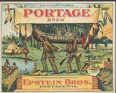 """Etiquette bière """"Portage"""""""