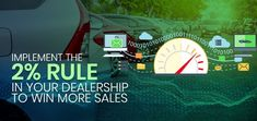 No matter where your dealership operates, two of its most important and obvious goals will be to gain more sales and rake in more money. Read full article to know how to implement 2% rule in dealership to win more sales.  #2%Rule #Dealership #MoreSales #HighlyEngagedVisitors #IzmoAuto