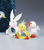Easter Critters Napkin Rings      Kids will happily 'hop to it' when you invite them to create these cute holiday decorations. A great motivator when you need help setting the table.