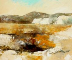 painting of a landscape; 100-120; Marjan Nagtegaal