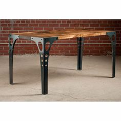 Table - With its industrial dining table design, the Pekota Table's sleek fluid lines and graceful curves exude a clean contemporary look that's perfect for today's . Industrial Design Furniture, Industrial Table, Furniture Design, Furniture Vintage, Furniture Market, Repurposed Furniture, Reclaimed Furniture, Refinished Furniture, Furniture Movers
