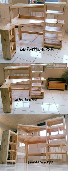 Check out this finest designed wood pallet creation! Being designed into media table formation and horizontal in shape, it can act out as best option to come up with as to use it for the bedroom or the lounge areas much. Trust us! It will look mind-blowing!