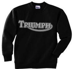 Triumph sweatshirt (black/gunmetal gray) - teeshack