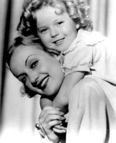 Carole Lombard and Shirley Temple