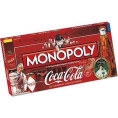 NEW Monopoly Coca-Cola-this special coca-cola anniversary collector's edition of the monopoly Coca Cola Gifts, Coca Cola Decor, Coca Cola Addiction, Vintage Cooler, Coca Cola Kitchen, Cocoa Cola, Always Coca Cola, World Of Coca Cola, Food Advertising