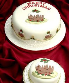 2 Cutters for Decorating Christmas Cakes