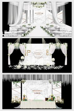 Mori beauty marble wedding renderings#pikbest#decors-models Wedding Stage Design, Wedding Designs, Wedding Ideas, Wedding Scene, 3d Models, Marble Pattern, Nordic Style, Sign Design, Event Decor