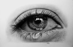 Crying Eye 2 by hg-art.deviantart.com on @deviantART