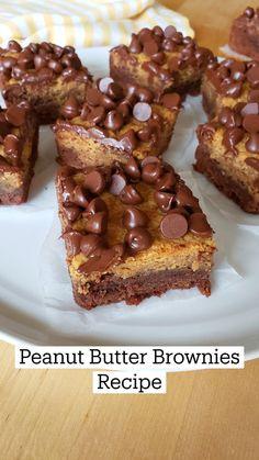 Peanut Butter Chocolate Bars, Homemade Peanut Butter, Peanut Butter Brownies, Semi Sweet Chocolate Chips, Chocolate Chip Oatmeal, Chocolate Desserts, Peanut Recipes, Sweet Recipes, Baking Recipes