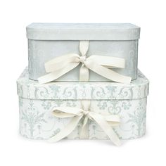 Josette Duck Egg Set of 2 Storage Boxes at Laura Ashley