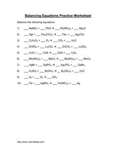 Answer key for the Balance Chemical Equations worksheet. | eigram ...