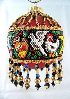 Amazing beadwoven Christmas ornaments by Christine Heidema   Beads Magic