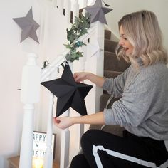 A stylish way to decorate this Christmas. Here's how I got on making my own DIY paper star decorations and how you can make some too. Christmas Fayre Ideas, Christmas Paper, Christmas Crafts, Christmas Decorations, Xmas, Christmas 2019, Diy Paper, Paper Crafts, Flower Arrangements Simple
