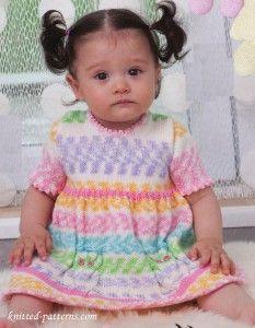 Children's dress knitting patterns free