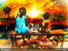 Sitting with Sunset #Creative #Art #DigitalArt @touchtalent.com