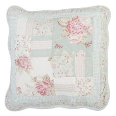 Pastel patchwork cushion