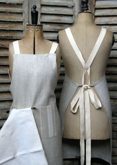 The Drill Hall Emporium // French handmade linen aprons