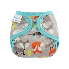 Foxes mini Coveralls Diaper Cover // Be the first to know when new designs are released, sign up here: BlueberryandMe.com