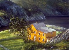 """Manuel House, Exploits Island"" Newfoundland, by Ted Stuckless"