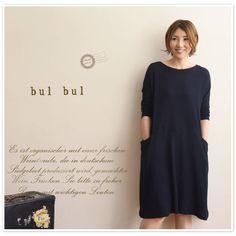 【bul bul バルバル】(サンバレー sun valley) ウール ガーゼ ボートネック 切替 チュニック(bc-60254)