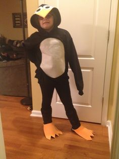 """Penguin costume for book character day at school.  """"Penguin Pete and Pat"""""""