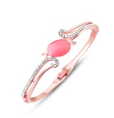 Add This Trendy Bracelet to Your Stylish Jewellery Collection - Aaishwarya Lovely Pink Crystal Studded Rose Gold Plated Bracelet/Bangle @ Rs. 379/- only #bracelet #trendybracelet #rosegoldbracelet #banglebracelet #fashionjewellery #stonebracelet