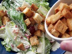 Ceasarsallad med ceasardressing Halloumi, Frisk, Tacos, Mexican, Lunch, Vegan, Chicken, Ethnic Recipes, Food