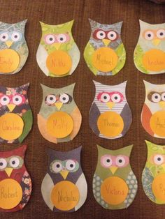 Inspired by needleandspatula.com I made owl name tags from their template for our kindergarteners to wear on the first day of school by reducing to 75% and adding a circle for their names.