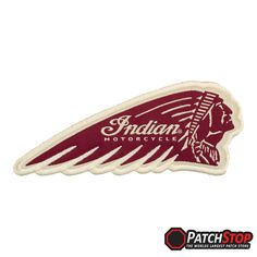 INDIAN MOTORCYCLES GENUINE NOS JACKET PATCH SCRIPT CHIEF SCOUT FOUR 10 inches