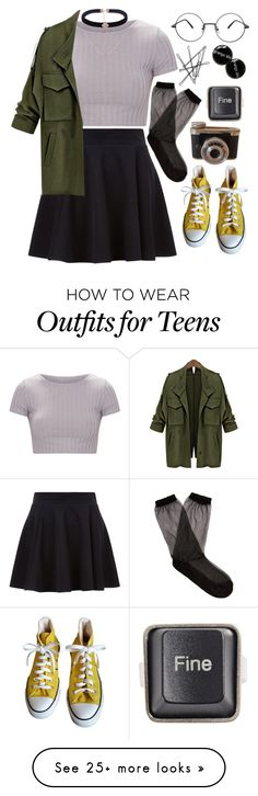 """you say I push my luck"" by nerdgirl-dork on Polyvore featuring Converse, Raey and RecycRing"