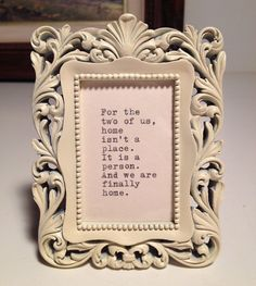 Home Quote Typed on Typewriter and Framed by farmnflea on Etsy, $14.00