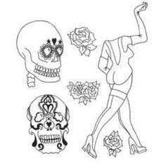 Dyan Reaveley's Dylusions Cling Stamp Collection - Pin Up Queen