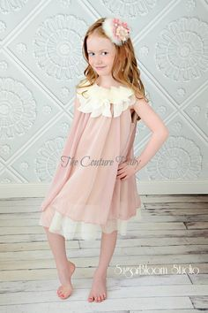 Blushing Rose Silk Chiffon Dress