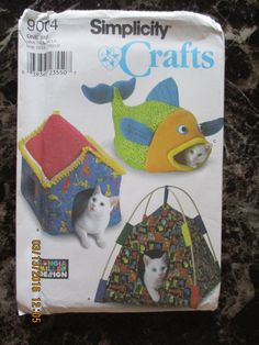 Simplicity Crafts Pattern 9004 - Cat Beds!  Complete and Uncut by WhimseysByAnne on Etsy