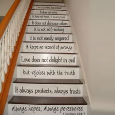 Love-is-Patient-Wall-Decal-Inspiration-Bible-Corinthians-Stair-Quote-Vinyl-Decor