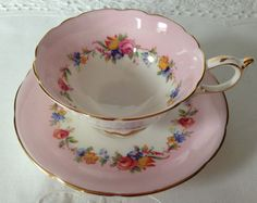 Beautiful Pink Paragon China Tea Cup & Saucer by TheEclecticAvenue