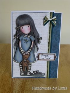 Decoupage, Gorjuss, Handmade Card