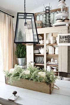 DIY Rustic Wood Box Centerpiece -