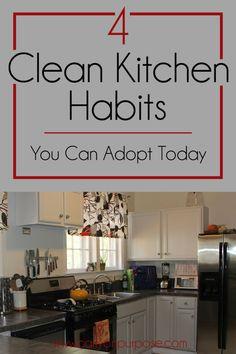 4 clean kitchen habits