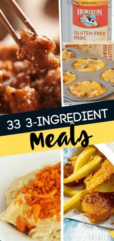 Make lunches and dinners as simple as possible with these 33 3-Ingredient Meals! These fast easy recipes with few ingredients are perfect for the summer when all you want is to spend time playing with your kids. Learn how to make these easy dinner recipes! Easy Dinners For Kids, Fast Easy Dinner, Fast Dinner Recipes, Fast Easy Meals, Fast Dinners, Simple Recipes For Dinner, Lunches And Dinners, Kids Meals, Breakfast Recipes