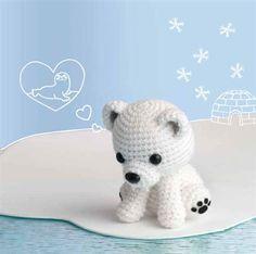 This amigurumi is just too cute! Crochet this stuffed polar bear fondly named Polar Lucibear, one of Crochet Me's Amigurumi Wall Calendar projects.
