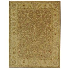 Charlton Home Dunbar Brown/Gold Area Rug Rug Size: