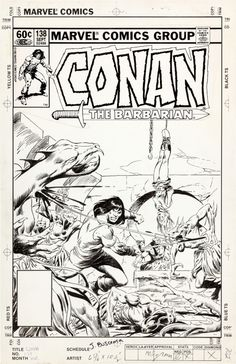 Conan 138 by John Buscema - Original Comic Art http://en.2dgalleries.com/art/conan-138-20280