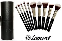 Amazon.com : Makeup Brush Set - Premium Synthetic Kabuki Brushes - GREAT GIFT Idea For CHRISTMAS - Perfect For Liquids, Creams or Powders - 10 Piece Collection With Eye and Face Brushes - Makeup Brush Holder Included - Kabuki Brushes For Real Makeup Artist Designer Techniques - Limited Time Offer - Promotion Price To Be Increased Soon! : Makeup Brush Sets : Beauty