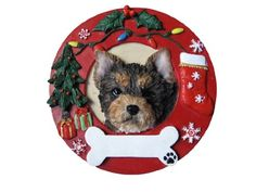 ES Pets Yorkie Pup Personalized Christmas Ornament * More info could be found at the image url.